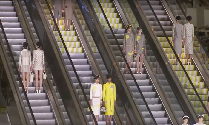 Foto: Louis Vuitton Spring/Summer Collection 2013 © Marc Jacobs, Daniel Buren.