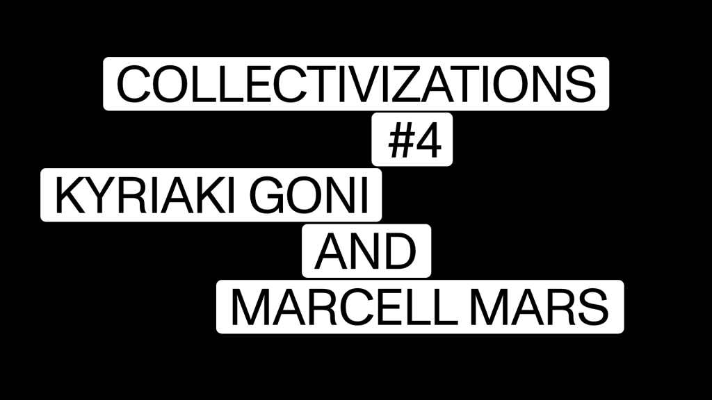 Collectivizations #4. Design by Jonas Staal