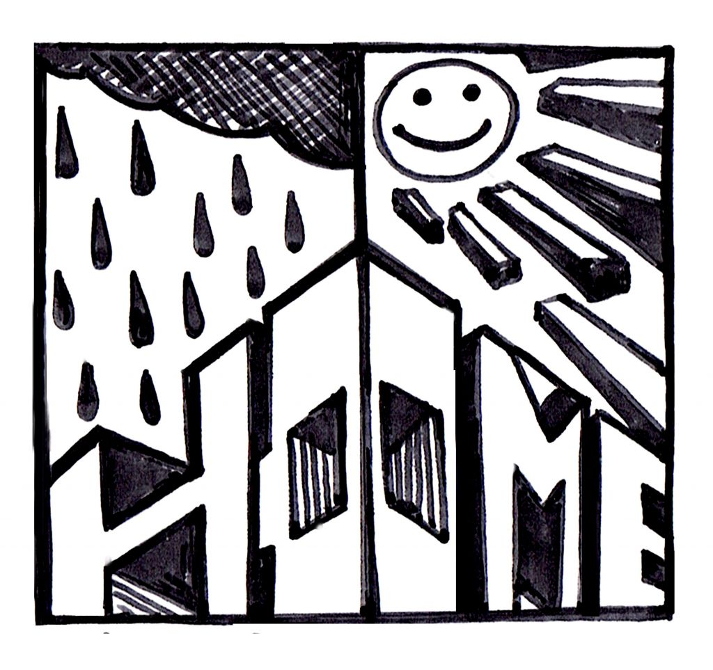 'After the rain comes the sunshine'. Illustration by WATS2.0.