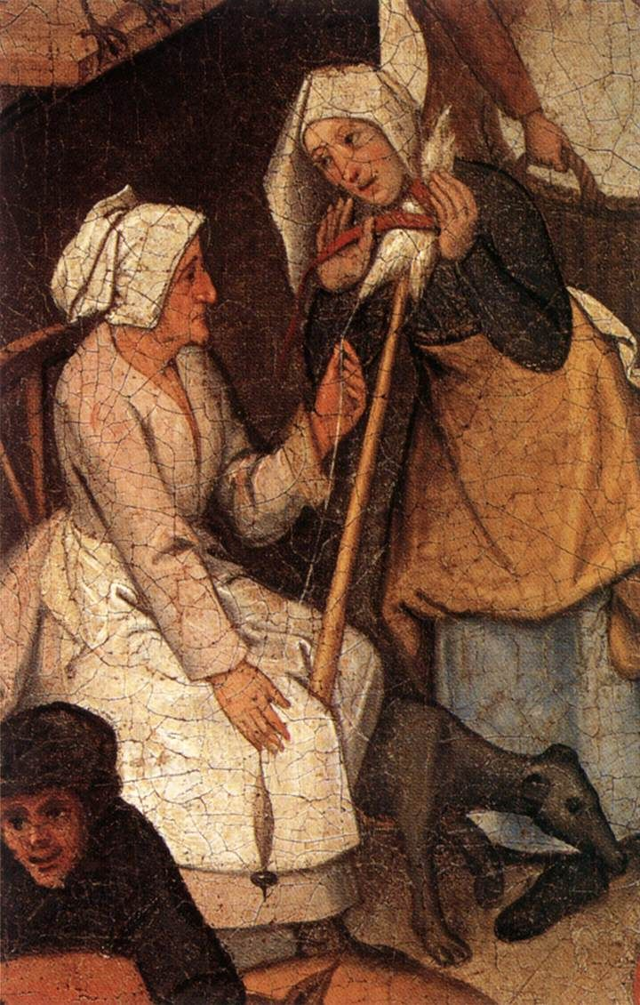 The Younger Proverbs (detail) by Pieter Brueghel