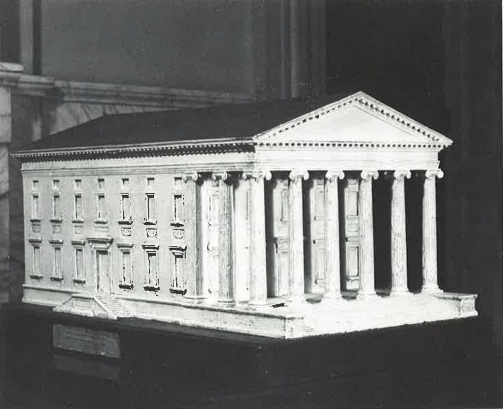 Virginia State House, model from 1787, commissioned by Thomas Jefferson, photographer unknown